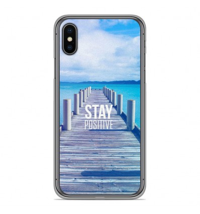 Coque en silicone Apple iPhone XS Max - Stay positive