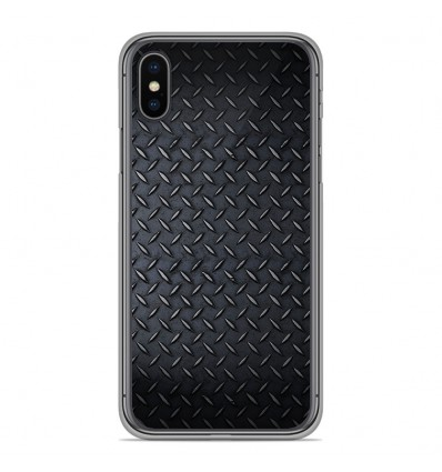 Coque en silicone pour Apple iPhone XS Max - Texture metal