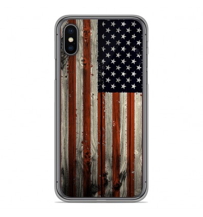 Coque en silicone Apple iPhone XS Max - USA Hood
