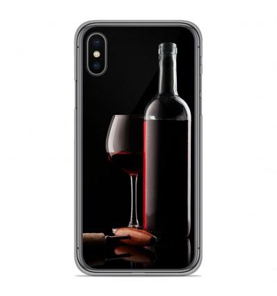 Coque en silicone Apple iPhone XS Max - Vin