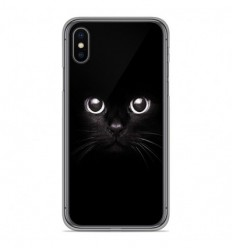 Coque en silicone Apple iPhone XS Max - Yeux de chat