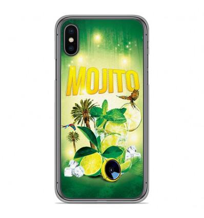 Coque en silicone Apple iPhone XS Max - Mojito Forêt