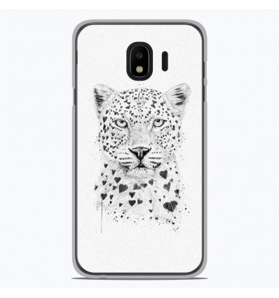 Coque en silicone pour Samsung Galaxy J4 2018 - BS Love leopard