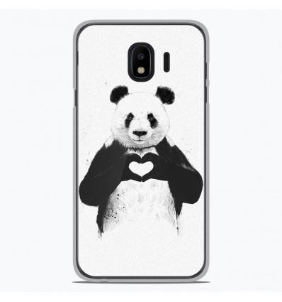 Coque en silicone Samsung Galaxy J4 2018 - BS Love Panda