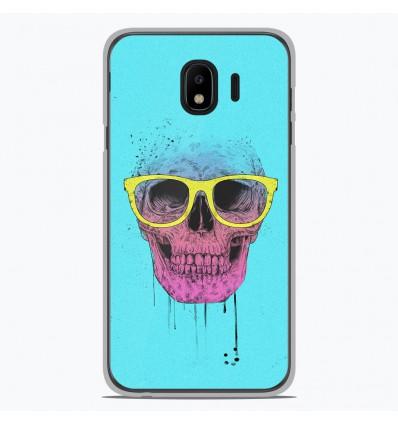 Coque en silicone pour Samsung Galaxy J4 2018 - BS Skull glasses