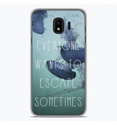 Coque en silicone Samsung Galaxy J4 2018 - Escape