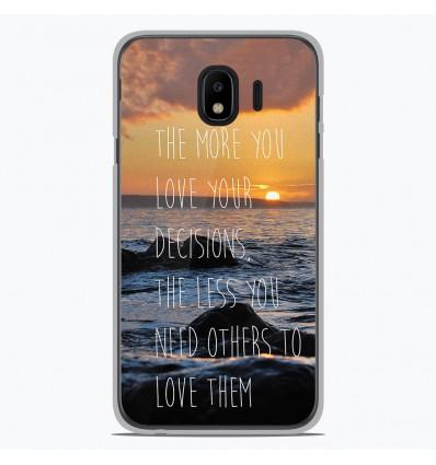 Coque en silicone Samsung Galaxy J4 2018 - Sunshine