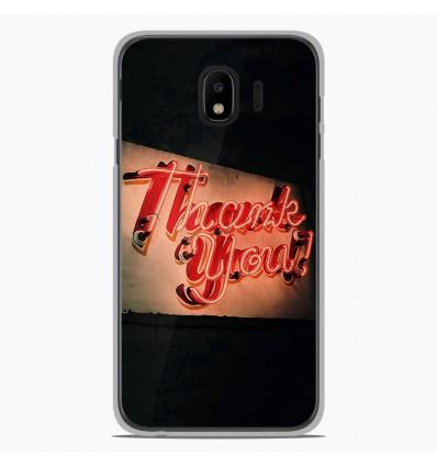 Coque en silicone pour Samsung Galaxy J4 2018 - Thank You