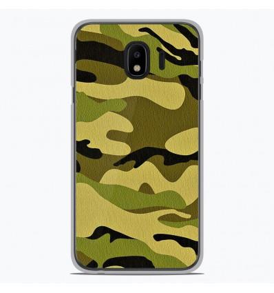 Coque en silicone pour Samsung Galaxy J4 2018 - Camouflage