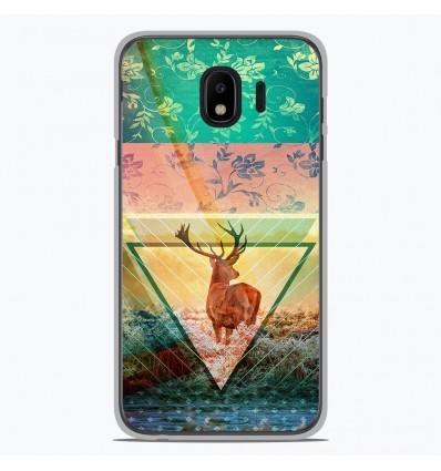 Coque en silicone Samsung Galaxy J4 2018 - Cerf swag