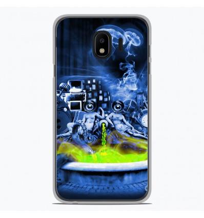 Coque en silicone Samsung Galaxy J4 2018 - Fontaine