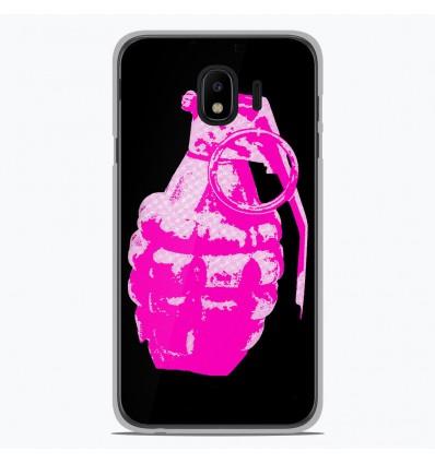 Coque en silicone Samsung Galaxy J4 2018 - Grenade rose