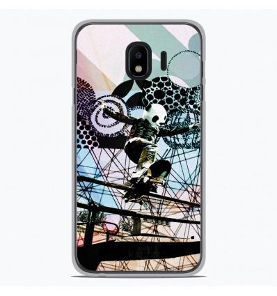 Coque en silicone pour Samsung Galaxy J4 2018 - Panda skater