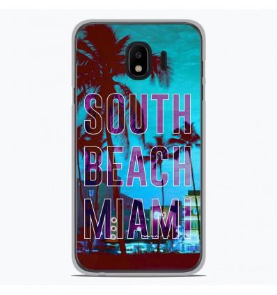 Coque en silicone pour Samsung Galaxy J4 2018 - South beach miami