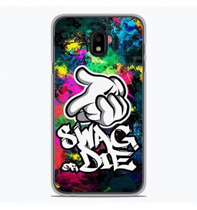 Coque en silicone Samsung Galaxy J4 2018 - Swag or die