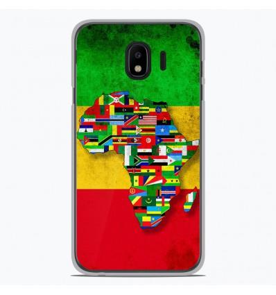 Coque en silicone Samsung Galaxy J4 2018 - Drapeau Africa Unite