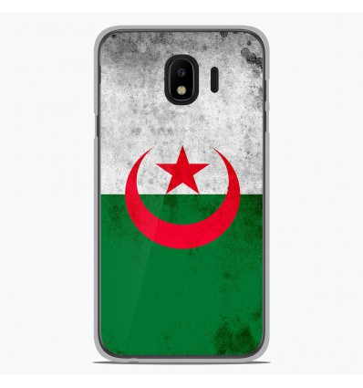 Coque en silicone Samsung Galaxy J4 2018 - Drapeau Algérie