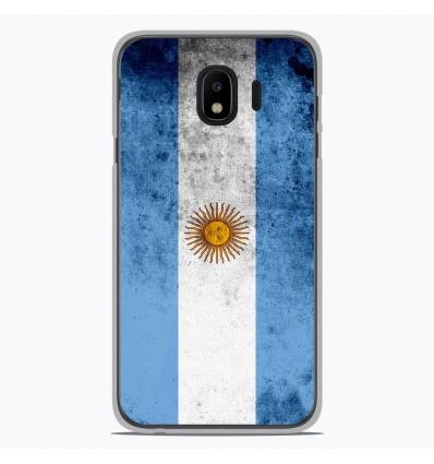 Coque en silicone Samsung Galaxy J4 2018 - Drapeau Argentine