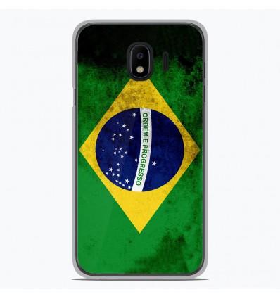 Coque en silicone pour Samsung Galaxy J4 2018 - Drapeau Brésil
