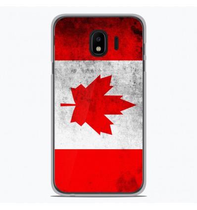 Coque en silicone Samsung Galaxy J4 2018 - Drapeau Canada
