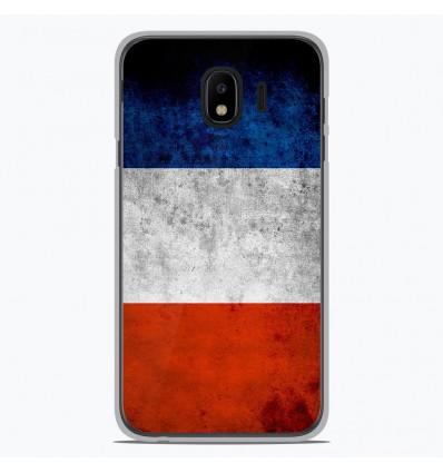 Coque en silicone pour Samsung Galaxy J4 2018 - Drapeau France
