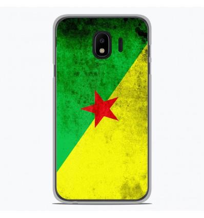 Coque en silicone Samsung Galaxy J4 2018 - Drapeau Guyane