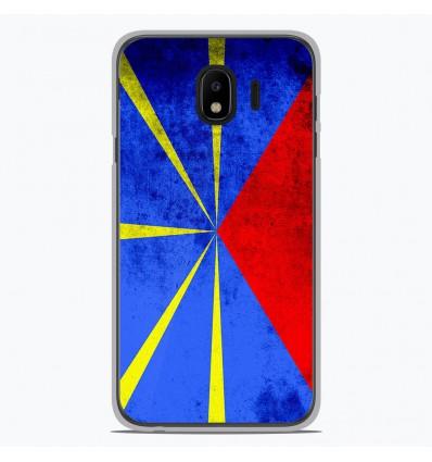 Coque en silicone pour Samsung Galaxy J4 2018 - Drapeau La Réunion