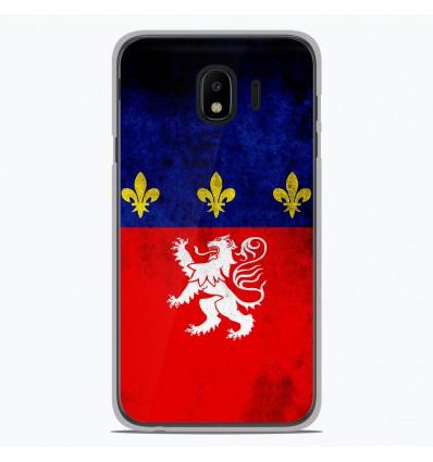 Coque en silicone pour Samsung Galaxy J4 2018 - Drapeau Lyon