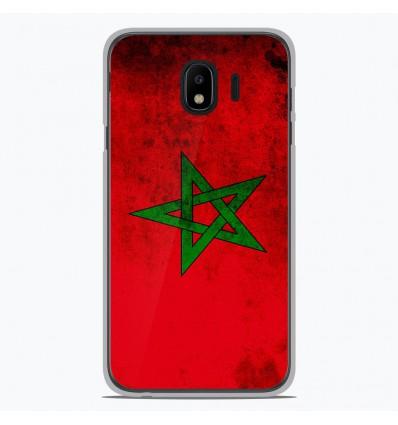 Coque en silicone pour Samsung Galaxy J4 2018 - Drapeau Maroc