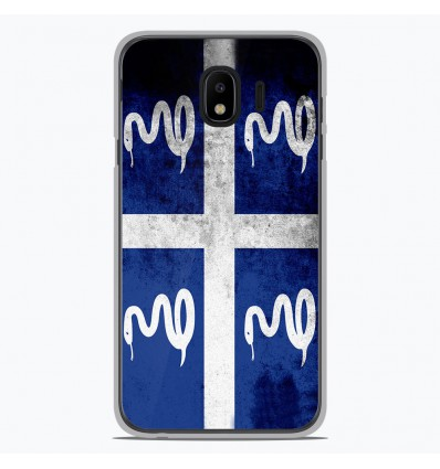 Coque en silicone Samsung Galaxy J4 2018 - Drapeau Martinique