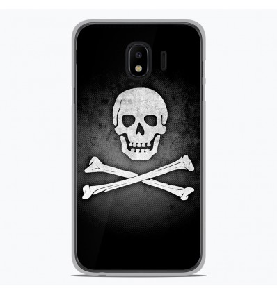 Coque en silicone pour Samsung Galaxy J4 2018 - Drapeau Pirate