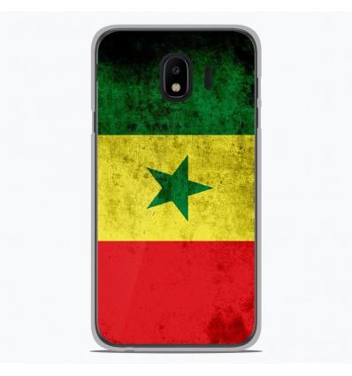 Coque en silicone Samsung Galaxy J4 2018 - Drapeau Sénégal