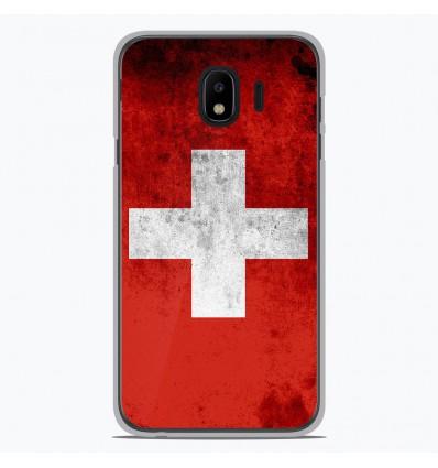 Coque en silicone pour Samsung Galaxy J4 2018 - Drapeau Suisse