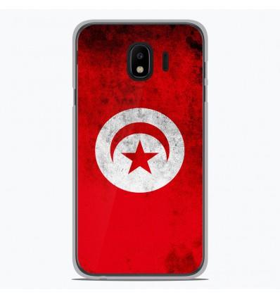 Coque en silicone pour Samsung Galaxy J4 2018 - Drapeau Tunisie