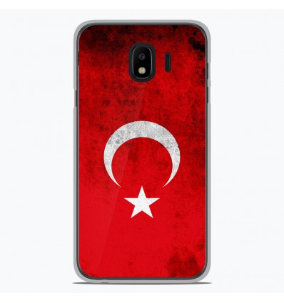 Coque en silicone Samsung Galaxy J4 2018 - Drapeau Turquie