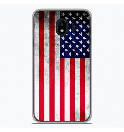 Coque en silicone Samsung Galaxy J4 2018 - Drapeau USA
