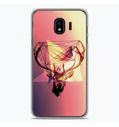 Coque en silicone Samsung Galaxy J4 2018 - Cerf Hipster