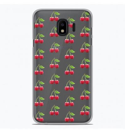 Coque en silicone Samsung Galaxy J4 2018 - Cerises Gris