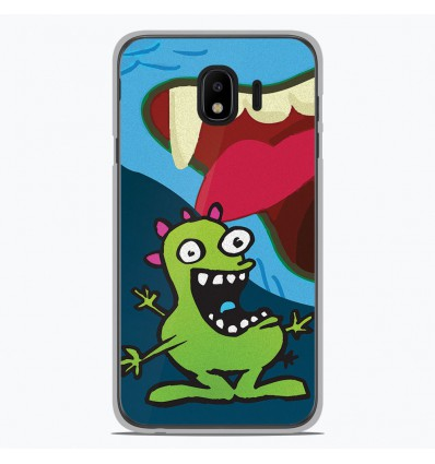 Coque en silicone Samsung Galaxy J4 2018 - Happy Monster