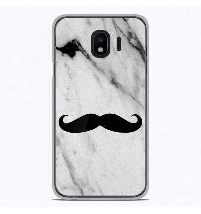 Coque en silicone Samsung Galaxy J4 2018 - Hipster Moustache