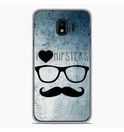 Coque en silicone Samsung Galaxy J4 2018 - I Love Hipster