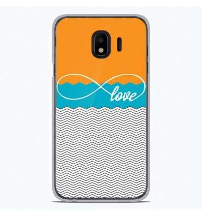 Coque en silicone pour Samsung Galaxy J4 2018 - Love Orange