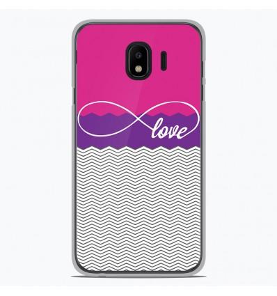 Coque en silicone pour Samsung Galaxy J4 2018 - Love Rose