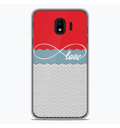 Coque en silicone pour Samsung Galaxy J4 2018 - Love Rouge
