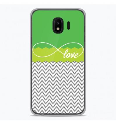 Coque en silicone Samsung Galaxy J4 2018 - Love Vert