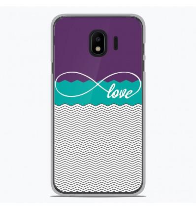Coque en silicone Samsung Galaxy J4 2018 - Love Violet