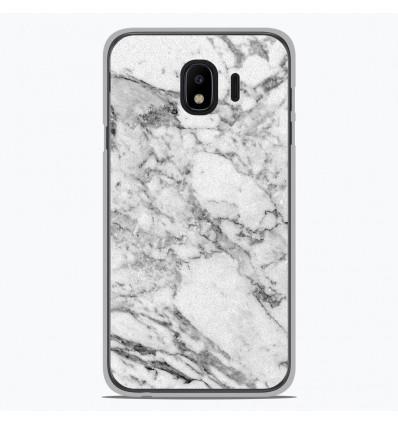 Coque en silicone Samsung Galaxy J4 2018 - Marbre Blanc