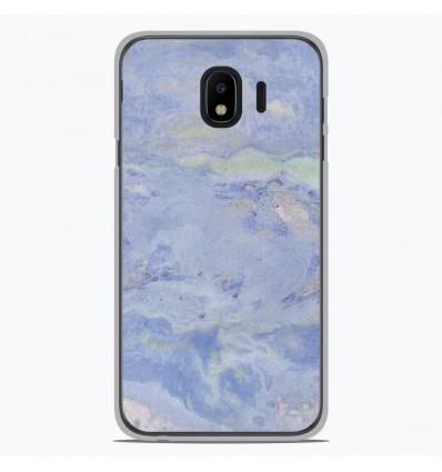 Coque en silicone pour Samsung Galaxy J4 2018 - Marbre Bleu