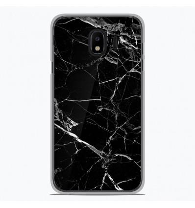 Coque en silicone pour Samsung Galaxy J4 2018 - Marbre Noir