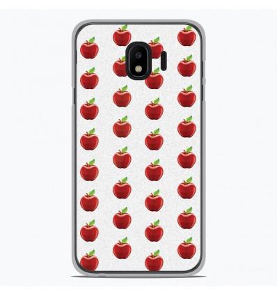 Coque en silicone Samsung Galaxy J4 2018 - Pomme Blanc